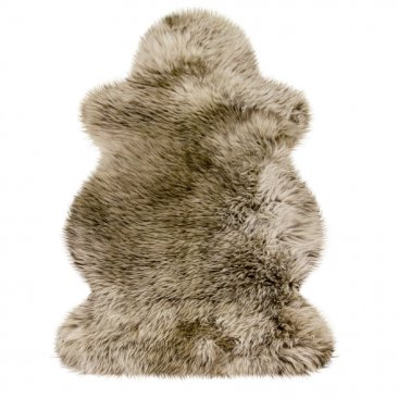 Australian Woolsheepskins Item No. 102 BS, brown with light brown tips