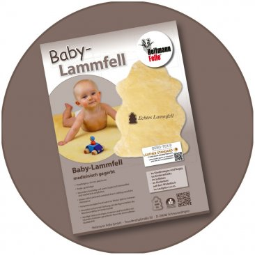 Baby lambskins Item No. 910-912 Single packaging with printed advertising sheet