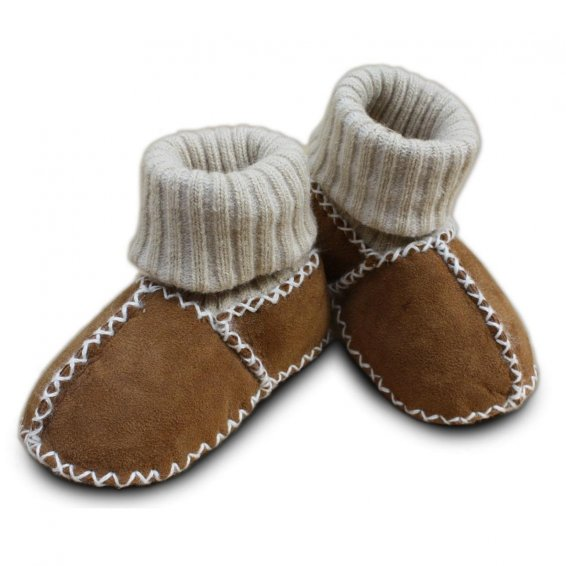 Baby lambskin shoes Item No. 928 CA, camel