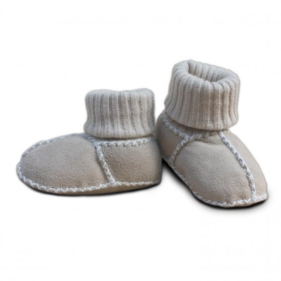 Baby lambskin shoes Item No. 928 SD, sand